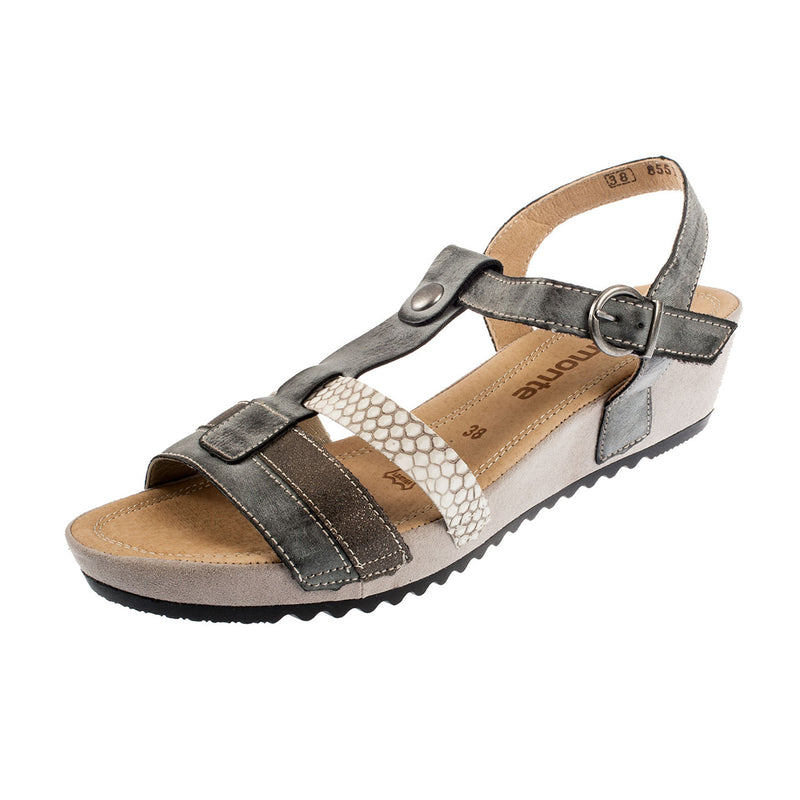 Women's R5757-45 Strapped Leather Sandal