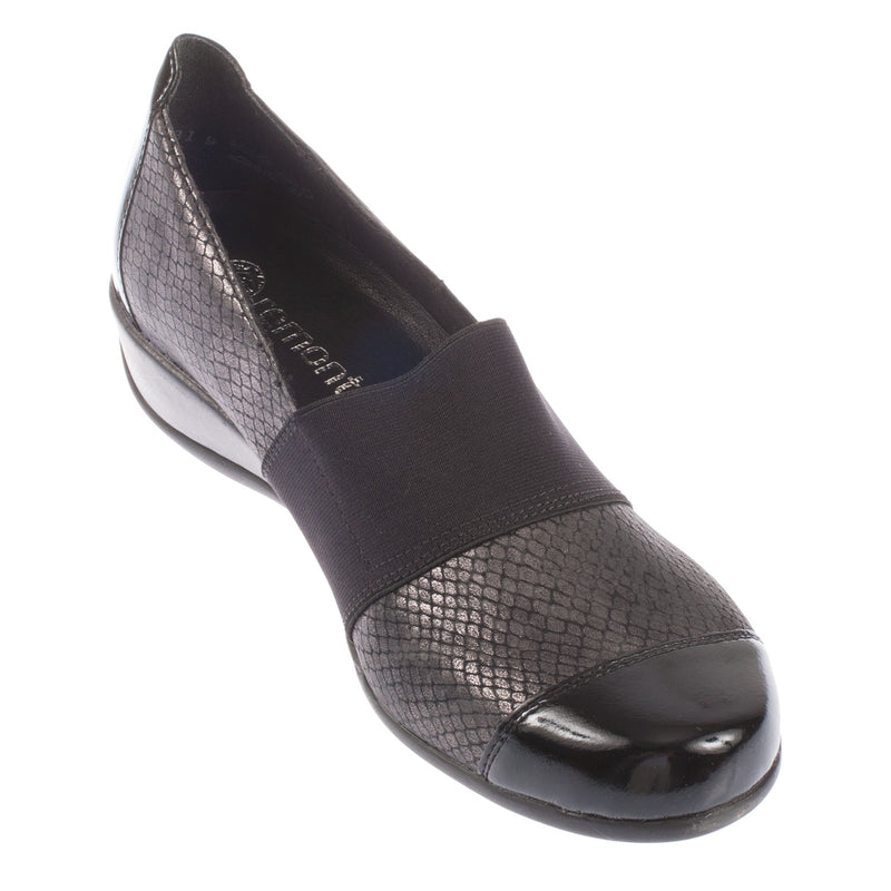 Women's Leather Elasticated Slip On
