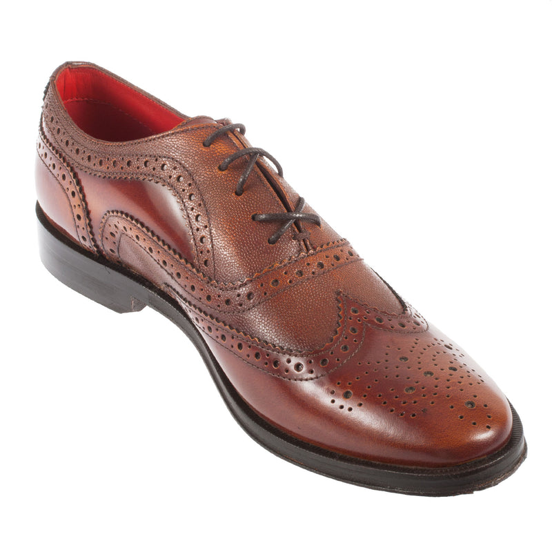 BASE LONDON Men's Strand Leather Wingtip Brogue (RT0224J)