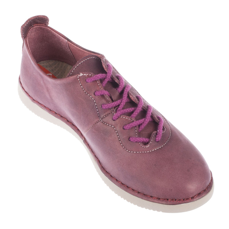 SOFTINOS Women's Tory Washed Leather Lace Up Trainer Shoe