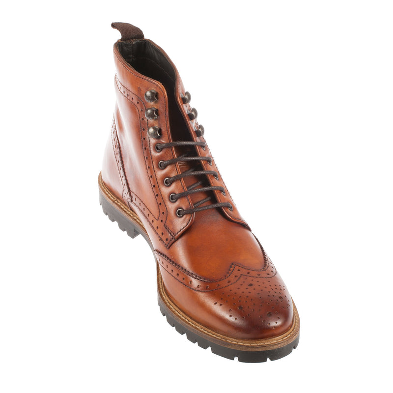 BASE LONDON Men's Troop Leather Brogue Boot (RP05248)