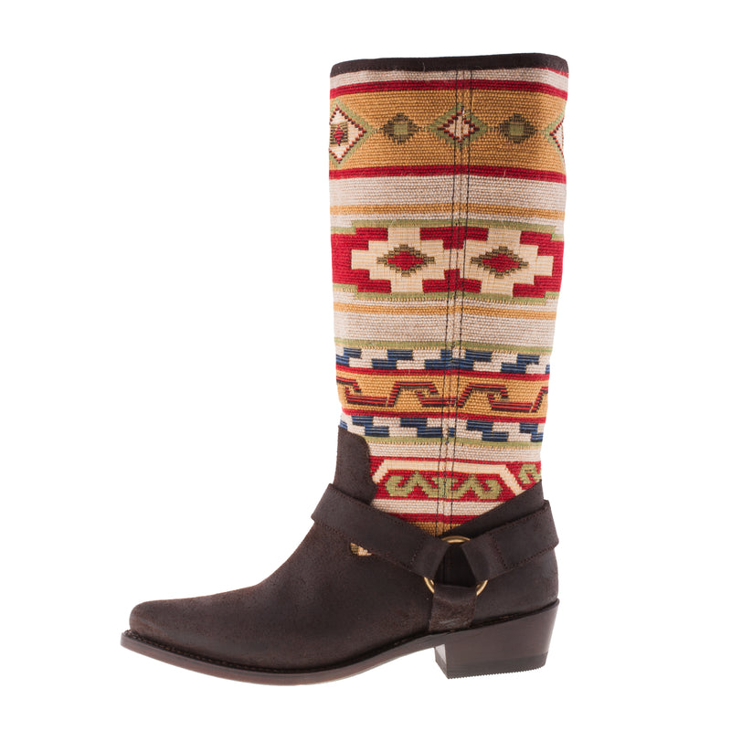 SANCHO BOOTS Women's Leather/Knitted Cowboy Boot