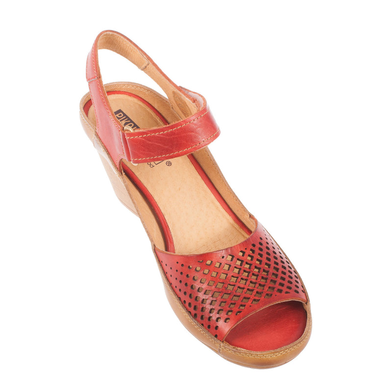 Women's Capri Leather Heel Sandal