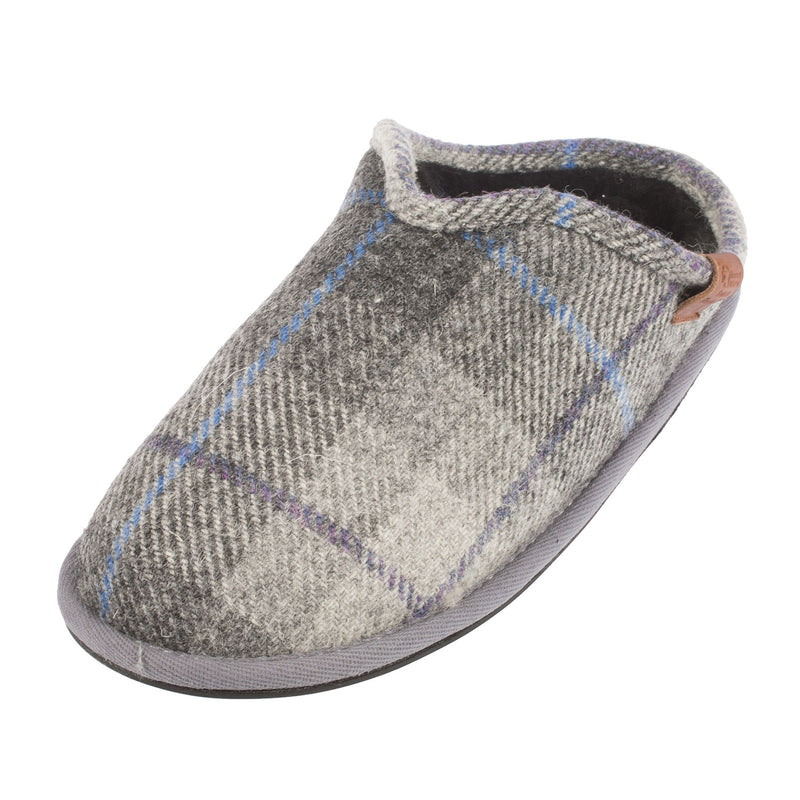 BEDROOM ATHLETICS Men's William Slipper (Gray/Chain/Check)