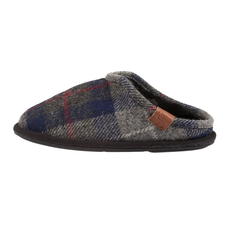 BEDROOM ATHLETICS Men's William Slipper (Navy/Black Check)