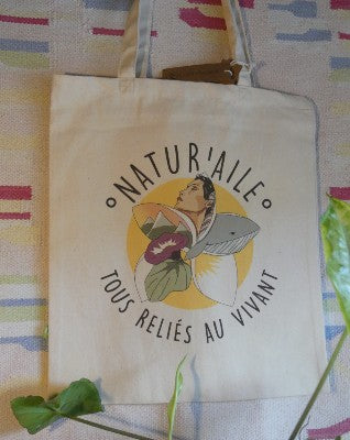 tote bag logo éléments de la nature