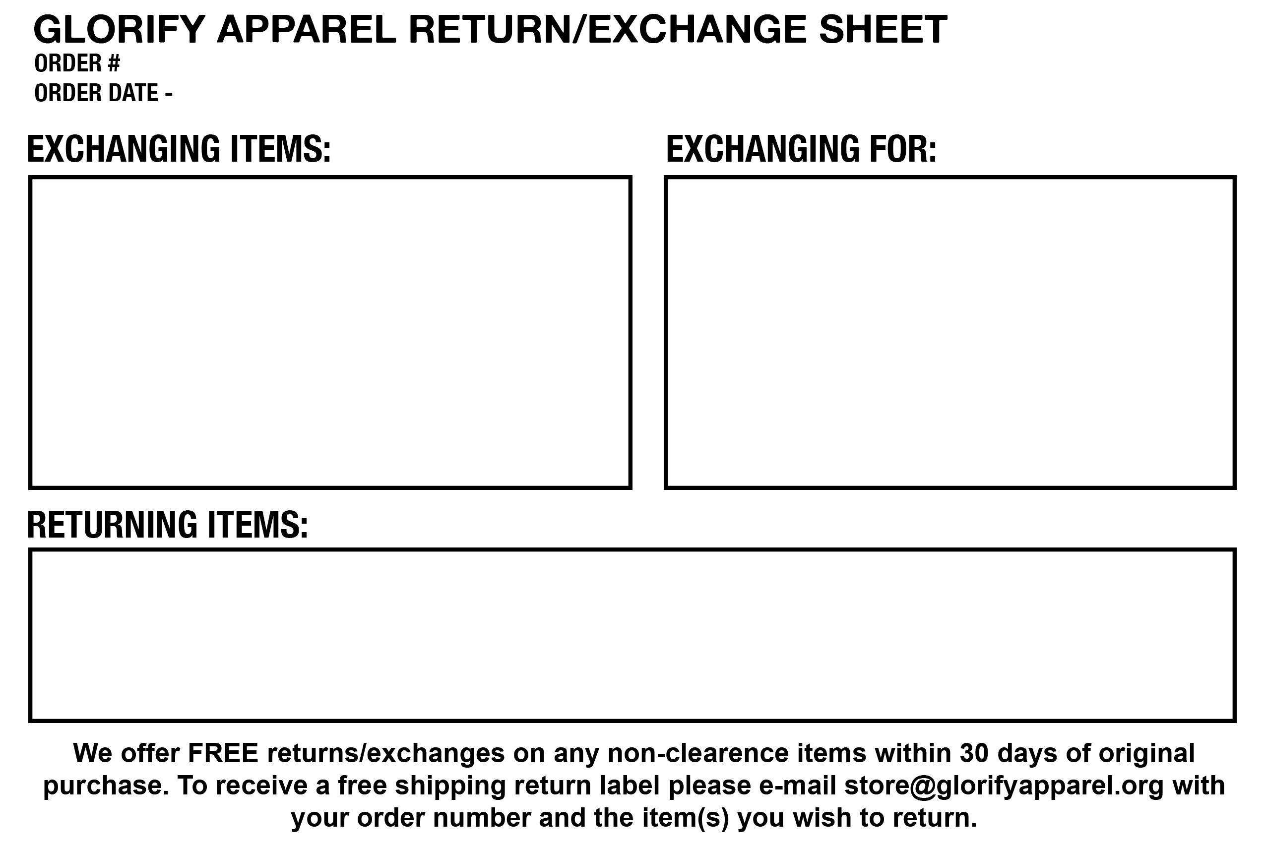 66d6793c85d6 Download our return slip. Print it out. Fill it out.