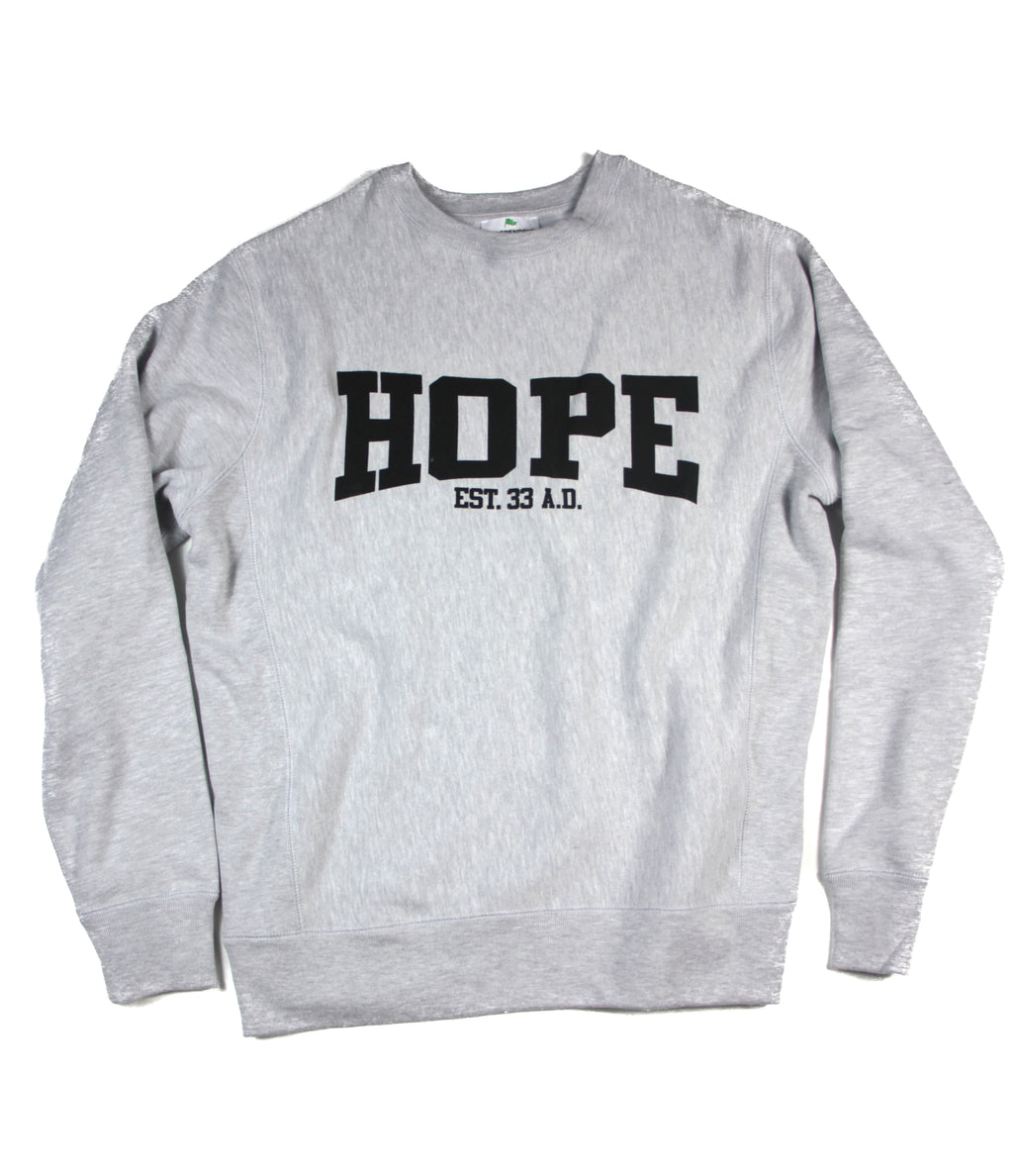 HOPE EST. AD33 GRAY PULLOVER
