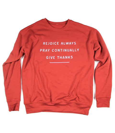 GIVE THANKS BRICK CREWNECK SWEATSHIRT