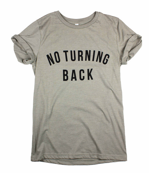 NO TURNING BACK CONCRETE ROLLED SLEEVE T-SHIRT