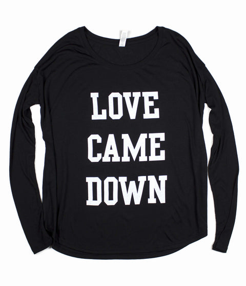 LOVE CAME DOWN BLACK WOMEN'S FLOWY LONGSLEEVE