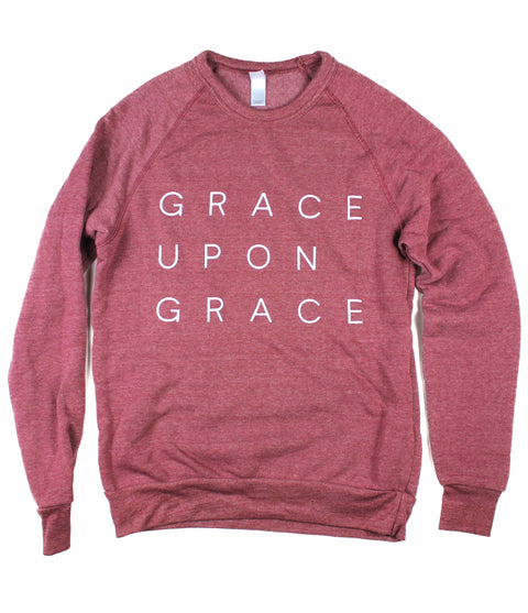 GRACE UPON GRACE DUSTY RED CREWNECK SWEATSHIRT