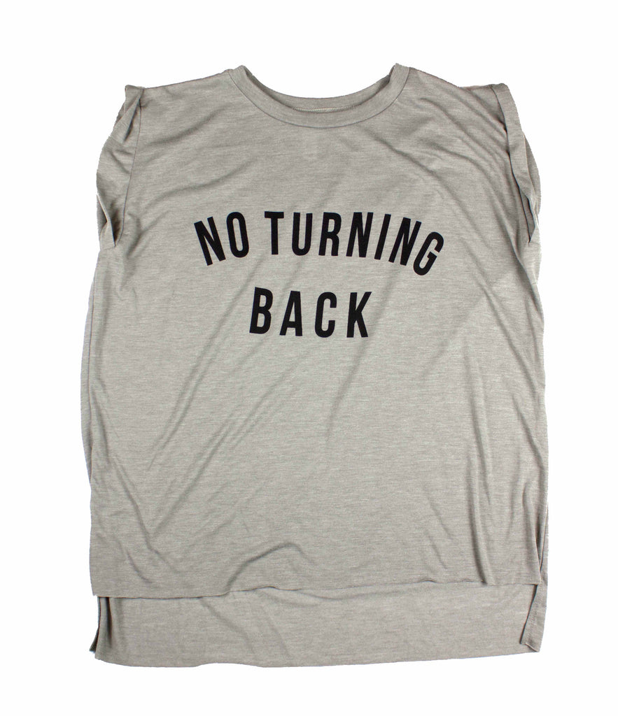 NO TURNING BACK CONCRETE WOMEN'S ROLLED SLEEVE MUSCLE T-SHIRT