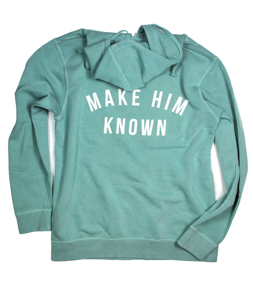 KNOW HIM & MAKE HIM KNOWN MINT HOODIE