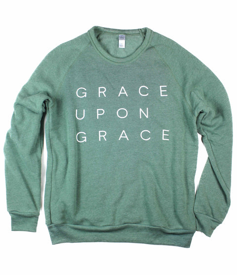GRACE UPON GRACE DUSTY PINE CREWNECK SWEATSHIRT