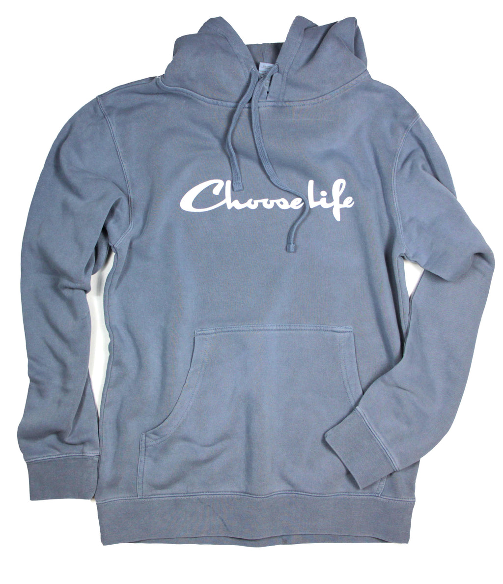 CHOOSE LIFE CHAMPION LIGHT NAVY HOODIE