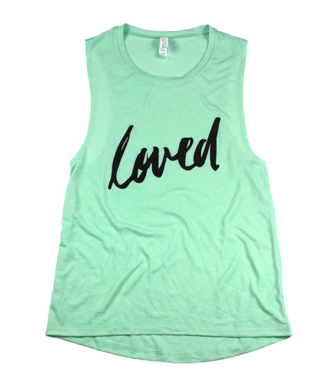 LOVED MINT WOMEN'S FLOWY MUSCLE TANK