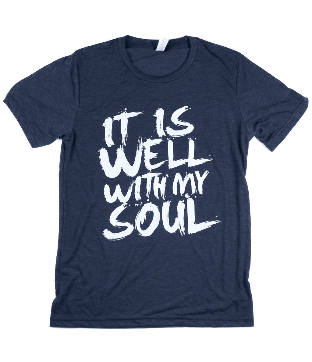IT IS WELL NAVY T-SHIRT