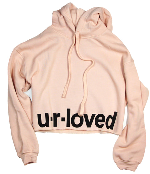 U.R.LOVED PEACH CROPPED HOODIE