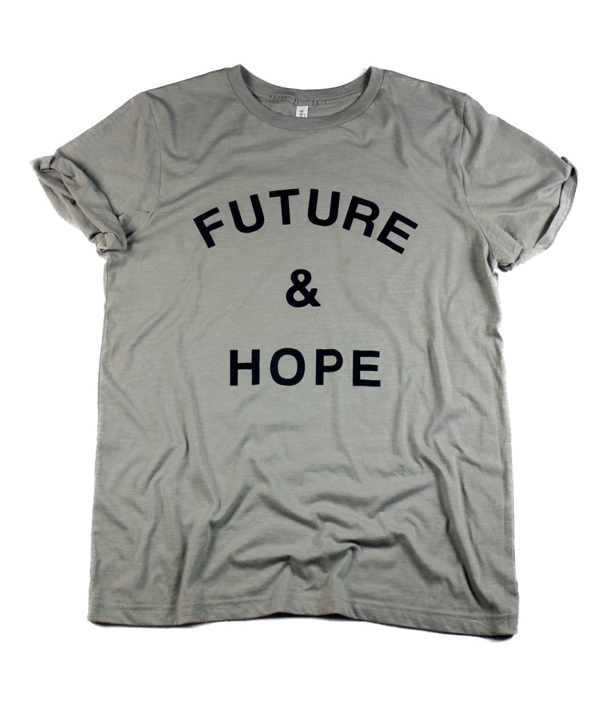FUTURE & HOPE CONCRETE ROLLED SLEEVE T-SHIRT
