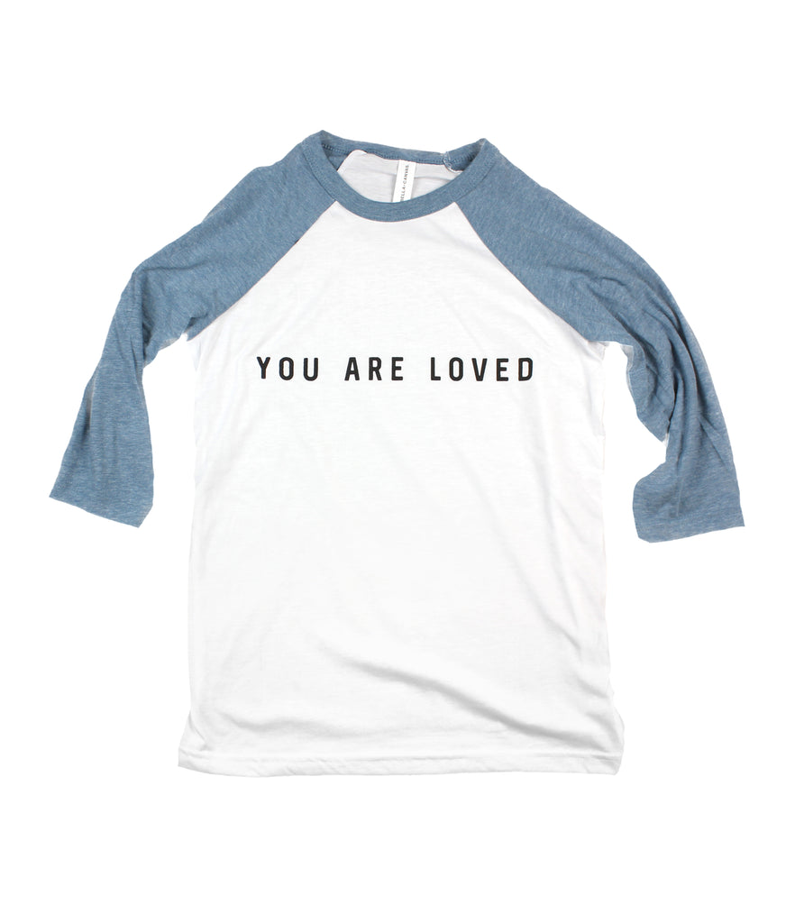 YOU ARE LOVED TODDLER BASEBALL TEE