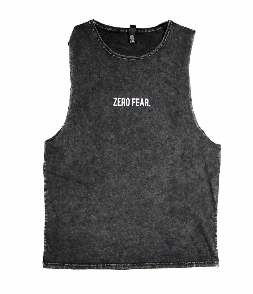 ZERO FEAR STONE WASH MUSCLE TANK