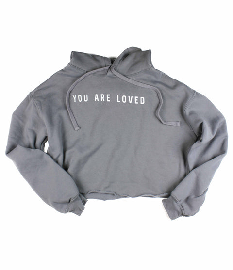 YOU ARE LOVED STORM CROPPED HOODIE