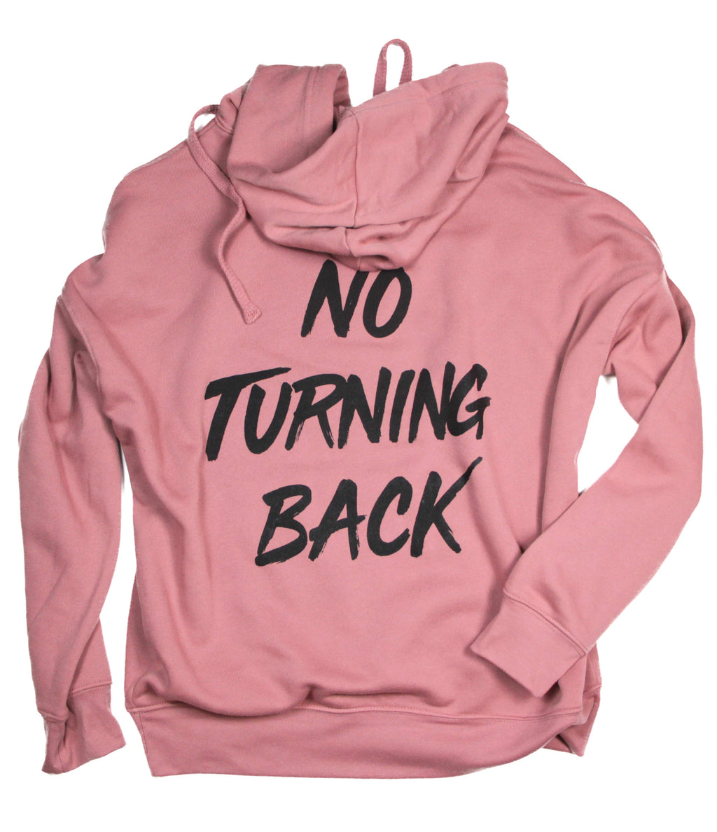 NO TURNING BACK MAUVE HOODIE