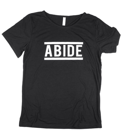 ABIDE BLACK RAW NECK T-SHIRT