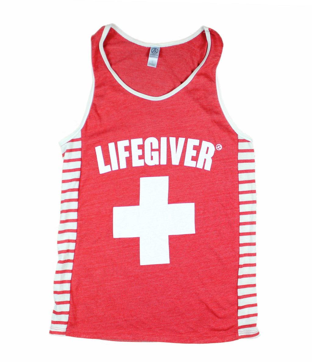 LIVE GIVER RED-STRIPE TANK