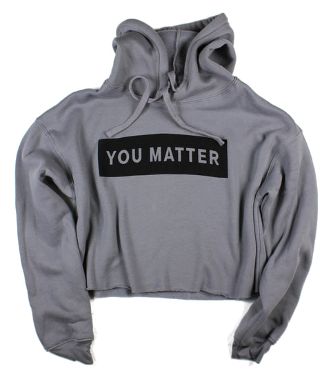 YOU MATTER STORM CROPPED HOODIE