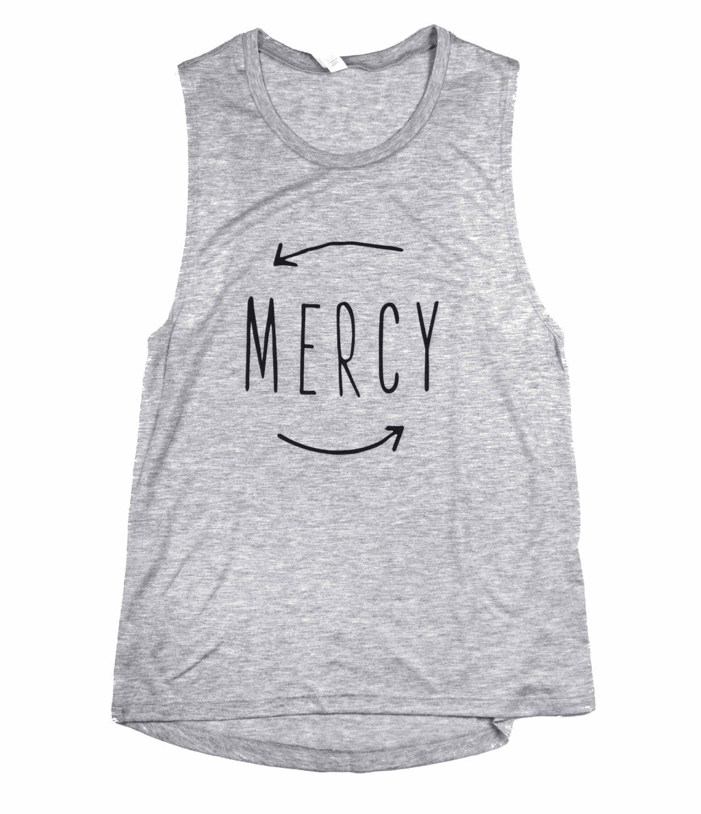 MERCY GREY FLOWY MUSCLE TANK