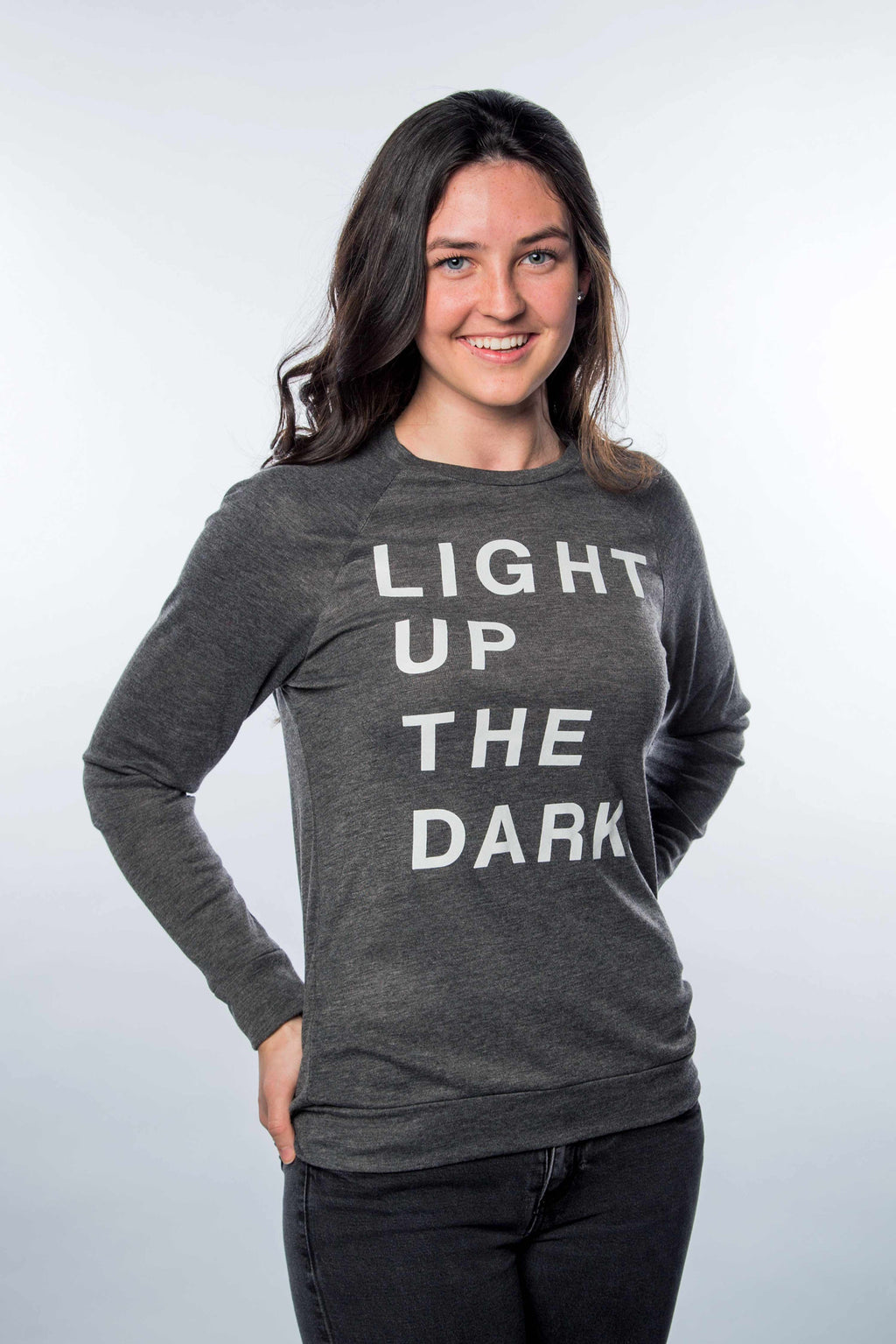 Light Up The Dark Gray Lightweight Sweater