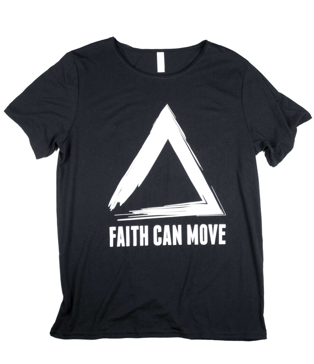 FAITH CAN MOVE MOUNTAINS BLACK T-SHIRT