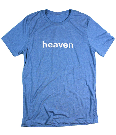 HEAVEN IT'S REAL BLUE T-SHIRT