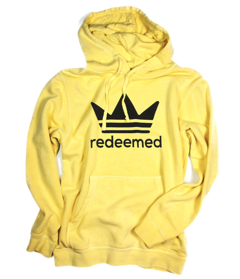 REDEEMED BY THE KING YELLOW HOODIE