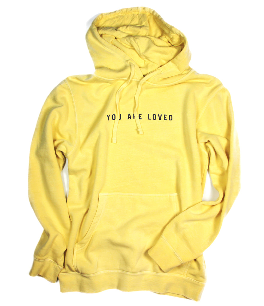 YOU ARE LOVED YELLOW HOODIE