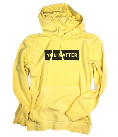YOU MATTER YELLOW HOODIE