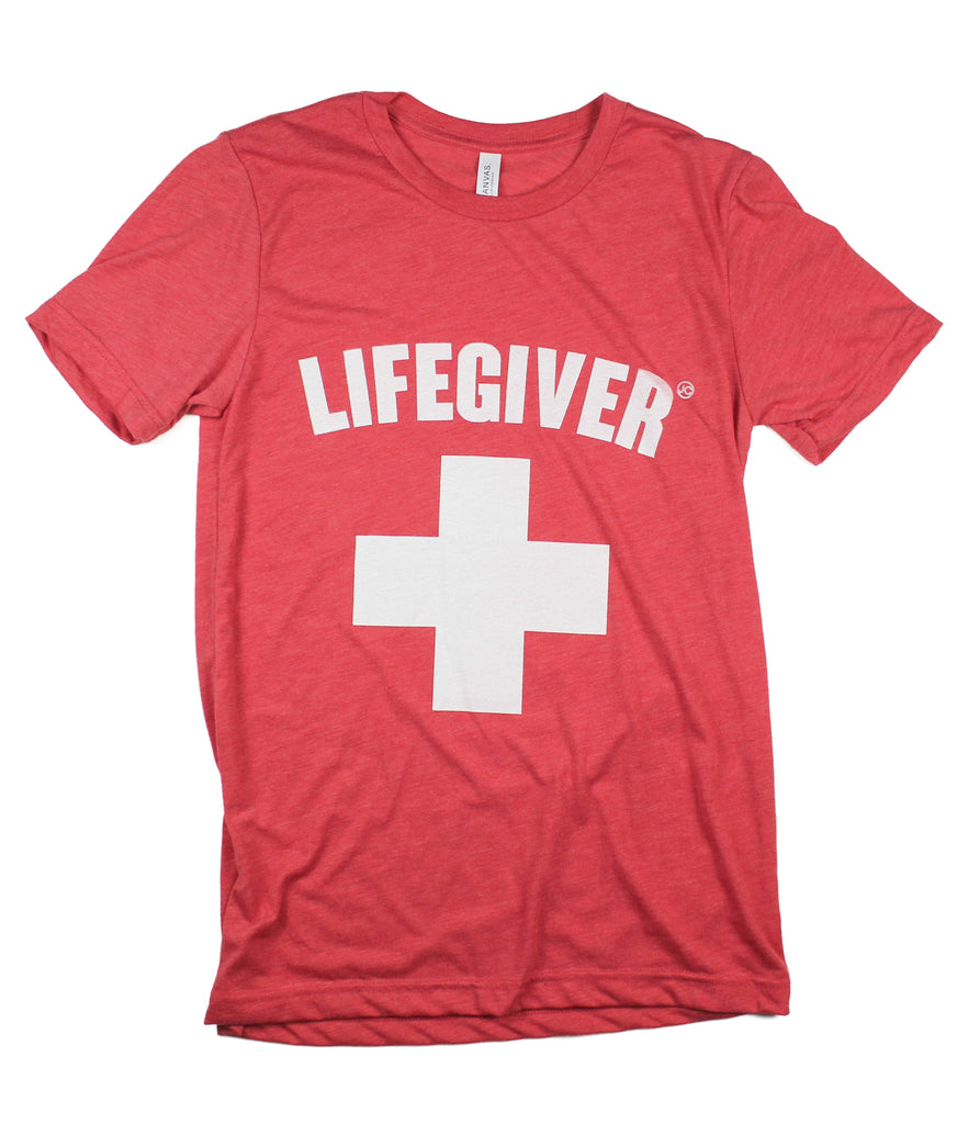 LIVEGIVER HEATHER RED T-SHIRT