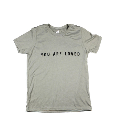 YOU ARE LOVED HEATHER STONE YOUTH TEE