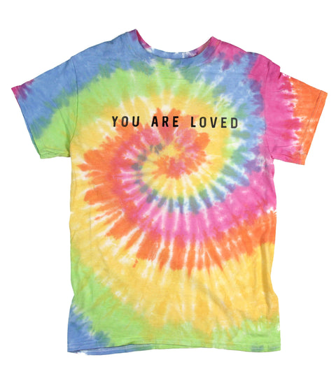 YOU ARE LOVED TIE-DYE TEE