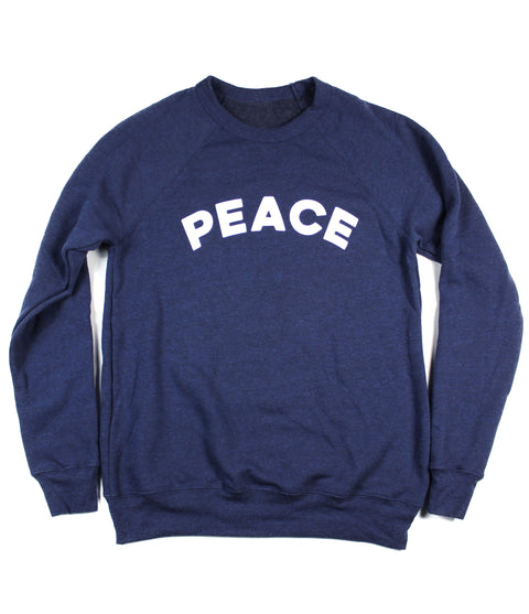 PEACE NAVY CREWNECK SWEATSHIRT