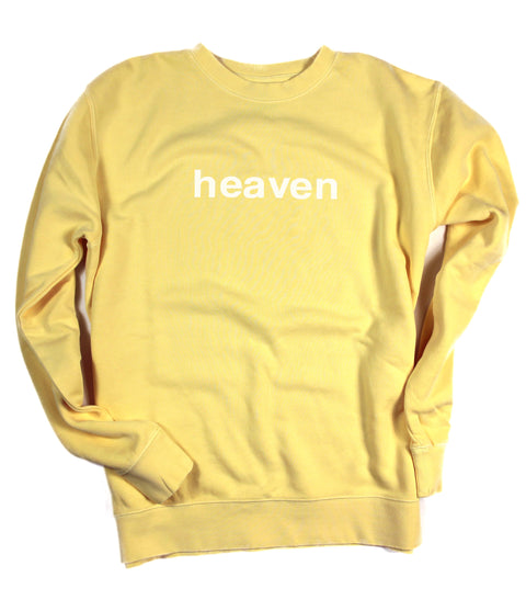HEAVEN IT'S REAL YELLOW CREWNECK SWEATSHIRT
