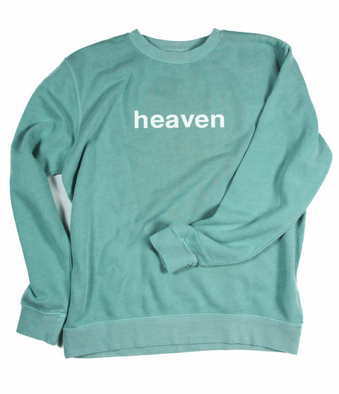 HEAVEN IT'S REAL MINT CREWNECK SWEATSHIRT