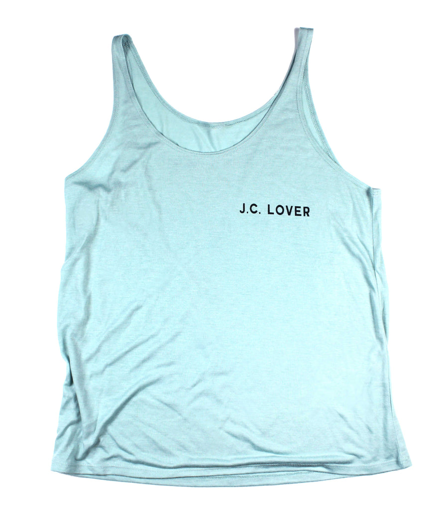 J.C. LOVER TEAL SLOUCHY TANK