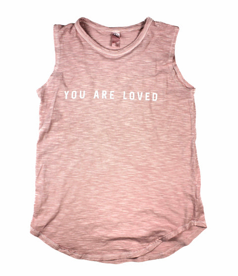 YOU ARE LOVED BLUSH DYED WOMEN'S SLEEVELESS TANK