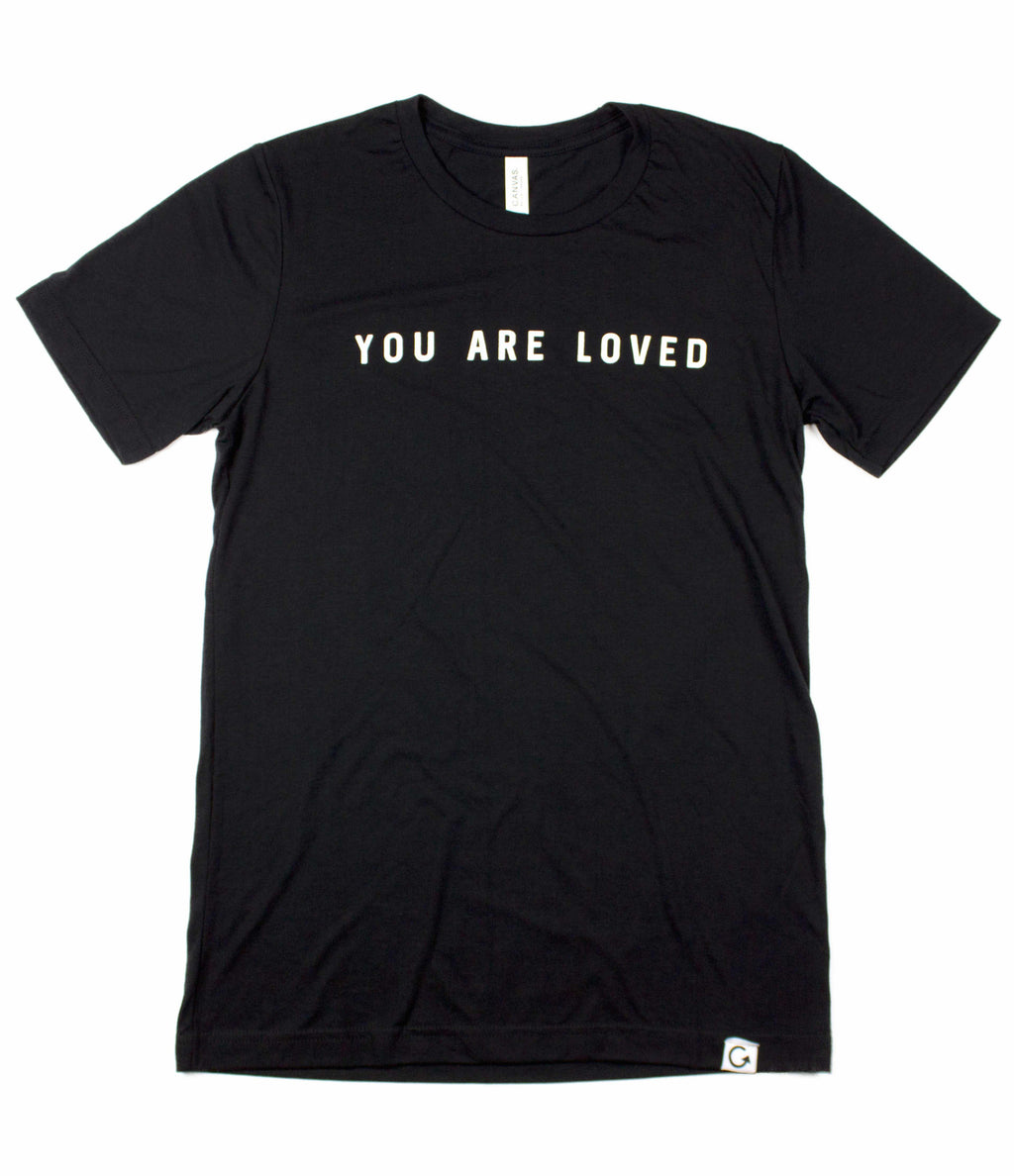 YOU ARE LOVED BLACK T-SHIRT