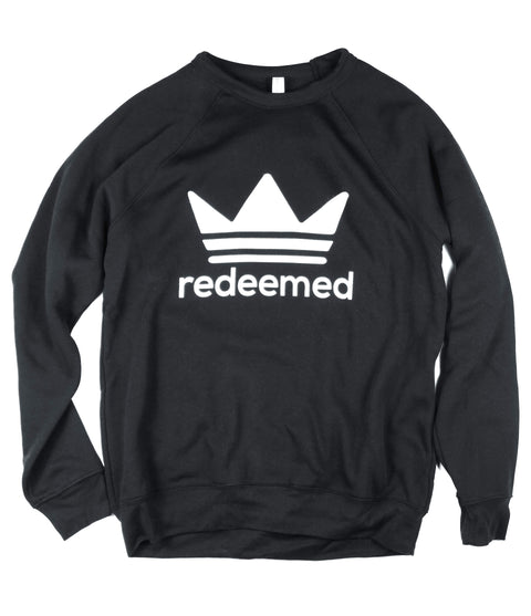 REDEEMED BLACK CREWNECK SWEATSHIRT