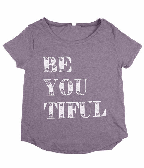 BEYOUTIFUL LILAC WOMEN'S SCOOP NECK T-SHIRT