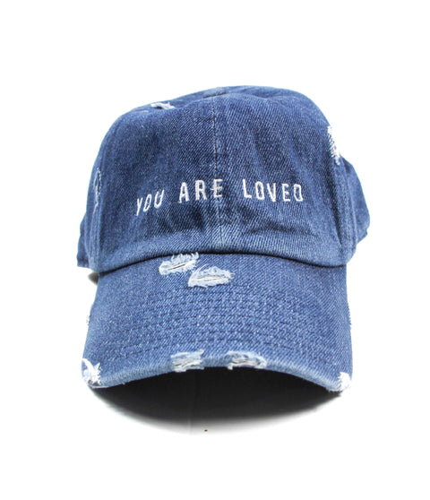 YOU ARE LOVED DISTRESSED DENIM CAP